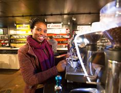Come warm up at Orms with a great cup of Origin coffee served by our barista, Phindi!