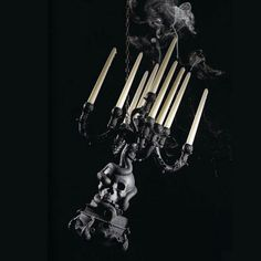 The Life Logic Chandelier Black is an impressive piece part of the Giant Burlesque Collection from Seletti. Famous Architects, Black Chandelier, Baroque Fashion, Dark Beauty, The Life, Candelabra, Burlesque, Halloween Party, Branding Design