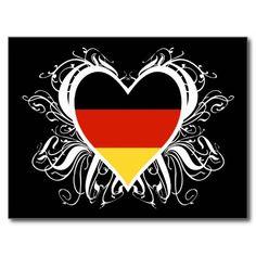 Decorative German Heart Post Card