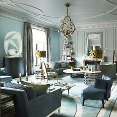 The color harmony in this room comes from the similar colors.