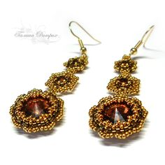 Accessories for Life: Master Class: Earrings Amber caramel