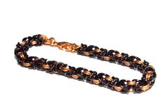 Copper and Black Byzantine Chainmaille by VincentsChainmaille