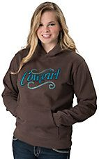 Cowgirl Hardware® Women's Brown & Turquoise Cowgirl with Cross Long Sleeve Hoodie