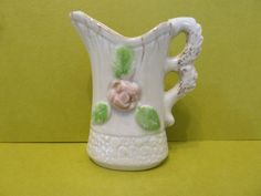 Miniature Pitcher, w / Luster Ware Bottom Front by BjsDoDads on Etsy