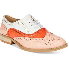 Wanted Babe Lace-Up Oxfords ($49) ❤ liked on Polyvore featuring shoes, oxfords, wanted footwear, laced up shoes, wanted oxfords, lace up shoes and laced shoes