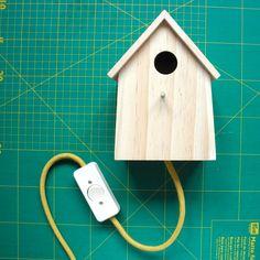 melimelo: Vogelhaus-Leuchte birdhouse lamp DIY