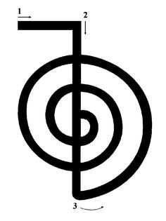 Cho Ku Rei (cho-koo-ray) means put the power here or increase the power. Traditional Japanese Reiki Masters translate this symbol to mean focus. Cho Ku Rei increases the power and flow of Reiki whenever used. Magickal practitioners often feel the clockwise version adds power, while the counterclockwise version removes unwanted energy. From Magick of Reiki by Christopher Penczak