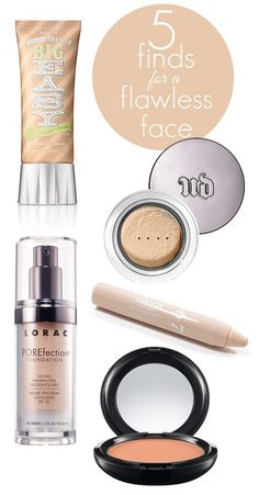5 Finds for a Flawless Face. #foundation #concealer #powder