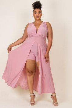 7a263466948 Plus Size Romper Maxi Romper Dress Plus Size Romper