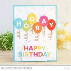 Die-namics: Bundle of Balloons Card Kit, A2 Rectangle STAX Set 2, Stitched Arch STAX, Balloon Shaker Window & Frame  Stencil: Star Celebration    Torico  #mftstamps