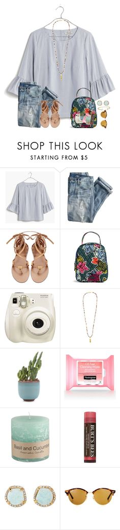 """~rtd~"" by taybug2147 ❤ liked on Polyvore featuring Madewell, J.Crew, Vera Bradley, Fujifilm, Good Charma, Burt's Bees, Louise et Cie, Ray-Ban, Kendra Scott and modern"