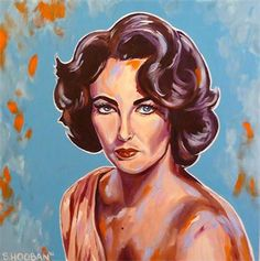"""The Diva (Elizabeth Taylor)"" 24x24"" acrylic on canvas"