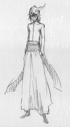 Original sketch of Ulquiorra Cifer from Bleach (manga) creator Tite Kubo. #BleachManga #Arrancar #Ulquiorra #BleachTiteKubo #BleachArrancer