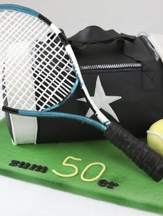 Motivtorten – torteundmehr.at Tennis Cake, Tennis Party, Fondant Cookies, Hobbies, Pasta, Birthday, Design, Tennis, Duffel Bag