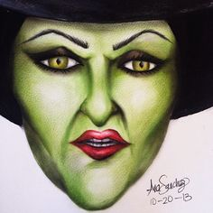 Wicked witch of the west facechart from Ana Sanchez!