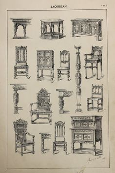 Hey, I found this really awesome Etsy listing at https://www.etsy.com/listing/237959070/english-jacobean-furniture-designs-large