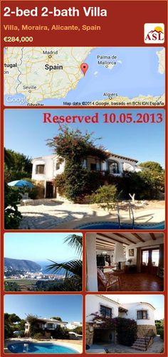 2-bed 2-bath Villa in Villa, Moraira, Alicante, Spain ►€284,000 #PropertyForSaleInSpain