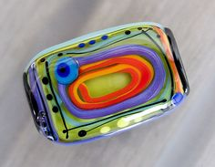 5 rooms 1 free shaped lampwork bead  Modern Glass by michoudesign