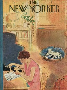 The New Yorker -: Nov 10, 1951 | Mother cat and kittens | cover by Garrett Price