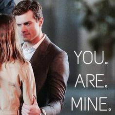 """At first I though, """"what a selfish statement"""". Later did I know that it isn't selfish, at all. No. It's a statement that shows how Christian will always want Anastasia, how he will love, cherish, and protect her with all his life, forever. And I think this is the most beautiful statement of """"I love you"""""""
