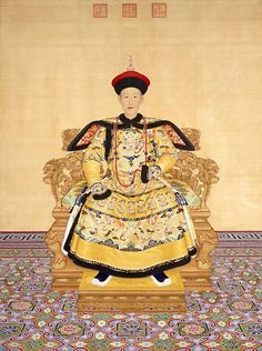 By G. Castiglione.   The Qianlong Emperor (Chien-lung Emperor); born Hongli (Hung-li; Chinese: 弘曆; Möllendorff transliteration hung li); 25 September 1711 – 7 February 1799) was the sixth emperor of the Manchu-led Qing Dynasty, and the fourth Qing emperor to rule over China proper. The fourth son of the Yongzheng Emperor, he reigned officially from 11 October 1735 to 8 February 1796.