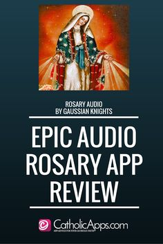 Amazing Audio Rosary by Gaussian Knights ... What an awesome app to have in your prayer warrior chest.
