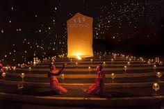Yi Peng Lantern Festival 2012 by Justin Ng, via 500px