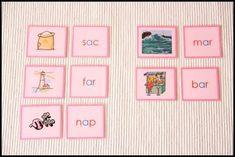 Serie Rosa Montessori - Castellano/Gallego Tarjetas para Imprimir Gratis - Creciendo con Montessori Activities For Kids, Spanish, Classroom, Learning, Children, Frame, Dil, Labs, Shelf