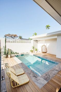 outdoor oasis backyard with pool / outdoor oasis backyard . outdoor oasis backyard with pool . outdoor oasis backyard on a budget Small Backyard Pools, Backyard Pool Designs, Small Pools, Swimming Pools Backyard, Swimming Pool Designs, Backyard Landscaping, Landscaping Ideas, Small Swimming Pools, Small Pool Ideas