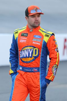 Ricky Stenhouse Jr., driver of the #17 SunnyD Ford, walks to his car during practice for the Monster Energy NASCAR Cup Series Food City 500 at Bristol Motor Speedway on April 14, 2018 in Bristol, Tennessee.