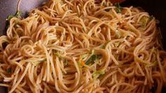 kínai büfés tészta, kínai zöldséges tészta, pirított tészta Japchae, Recipies, Spaghetti, Ethnic Recipes, Food, Chinese, Drinks, Recipes, Drinking