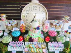alice in wonderland candy buffet | Alice in Wonderland Themed Party by Cakes by Joanne Charmand ... With CLOCK
