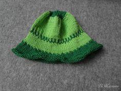 Baby Mütze Fischerhut Sommer gestrickt aus 100% Baumwolle in grün mit Krempe, Sommer, vegan von LiMariann auf Etsy