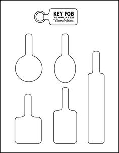 leather key fob pattern - Google Search