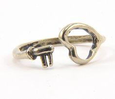 White Bronze Heart Ring Uncovet