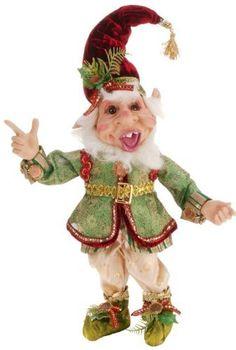 Ugly little elf. Christmas Fairy, Santa Christmas, Christmas Ornaments, Mark Roberts Elves, Elf Christmas Decorations, Santa Figurines, Paper Mache Crafts, Elf Doll, Elves And Fairies