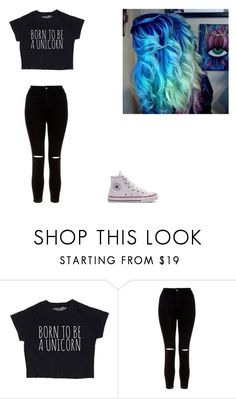 """""""100 Dollar Budget Challenge!"""" by supernerdgirl300 on Polyvore featuring New Look and Converse"""