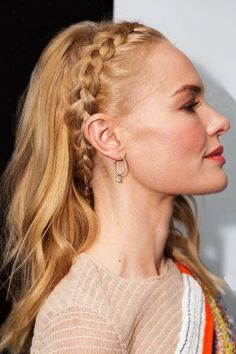 This Braid Trend Is Having A Serious Moment #refinery29 http://www.refinery29.com/2015/10/96545/kate-bosworth-dutch-braid