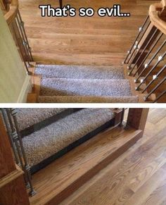 omg thats awesome! then your excuse could just be that the carperters forgot to do that stair and you haven't gotten around to doing it.