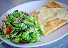 savory brie and apple crepe