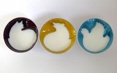 ceramic bowls by Geraldine De Beco