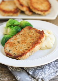Parmesan Crusted Pork Chops - one of our favorite recipes. AND it's EASY! Recipe on { lilluna.com }
