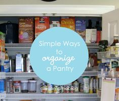 Say goodbye to the mess in your pantry with these easy tips! Via Clean Mama