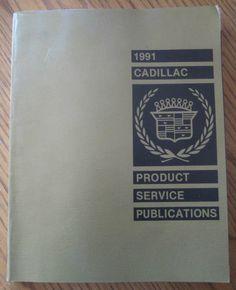 1991 Cadillac Seville and Eldorado Shop Manual MINT Original Repair Service Book