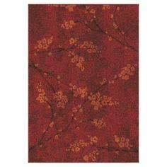 Blossom Overdye Area Rug Red