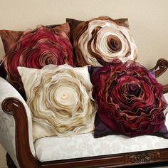 YES bottom right 1 Sophia Rose Chiffon Square Throw Pillows