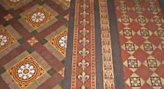 St Lawrence's, Tubney Floor tiles (Image: Brian Andrews)