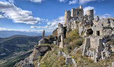 Rocca Calascio, Abruzzo - A high fortress set in the Apennines in the Province of Acquila Rocca Calascio is astonishingly beautiful. If in town, visit Santa Maria della Pietà, an octagonal church built in the 17th Century.