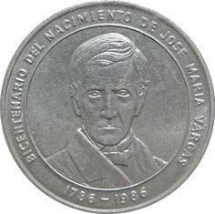Moneda de plata 100 Bolivares Venezuela 1986 Vargas.