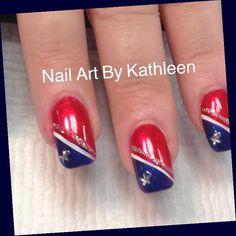 Fingernail Designs, Diy Nail Designs, Easy Nail Art, Cool Nail Art, Usa Nails, Patriotic Nails, 4th Of July Nails, July 4th, Beautiful Nail Designs